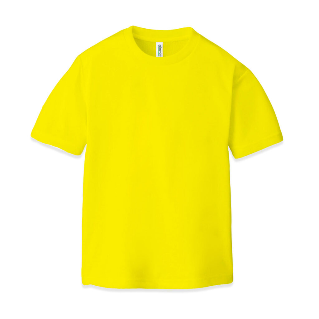 ドライクルーネックTシャツ イエロー