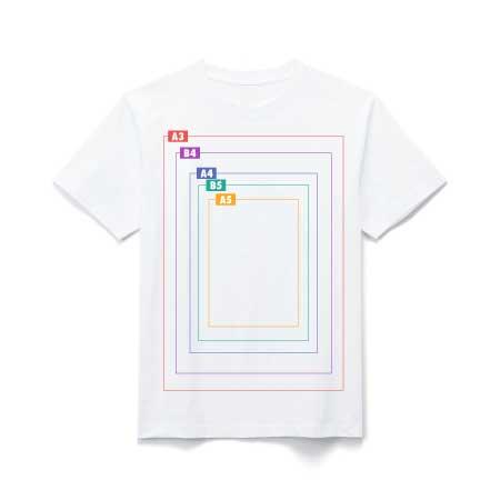インクジェットTシャツ プリントサイズ
