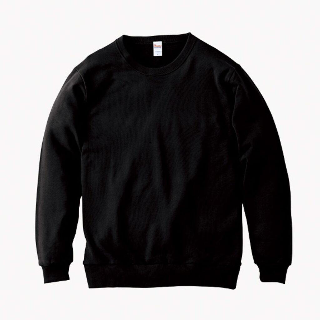 ライトスウェットシャツ 黒