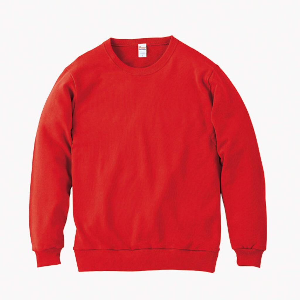 ライトスウェットシャツ 赤