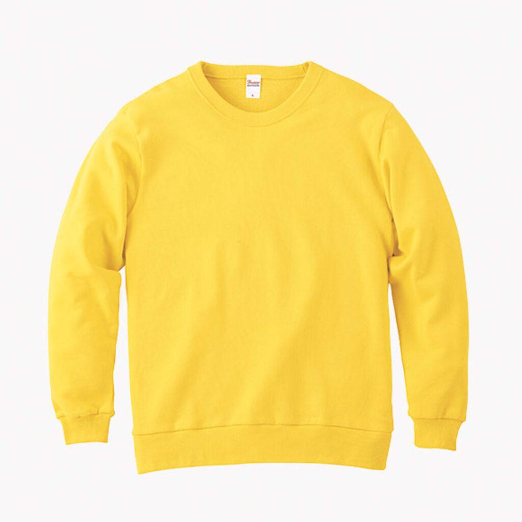 ライトスウェットシャツ 黄色