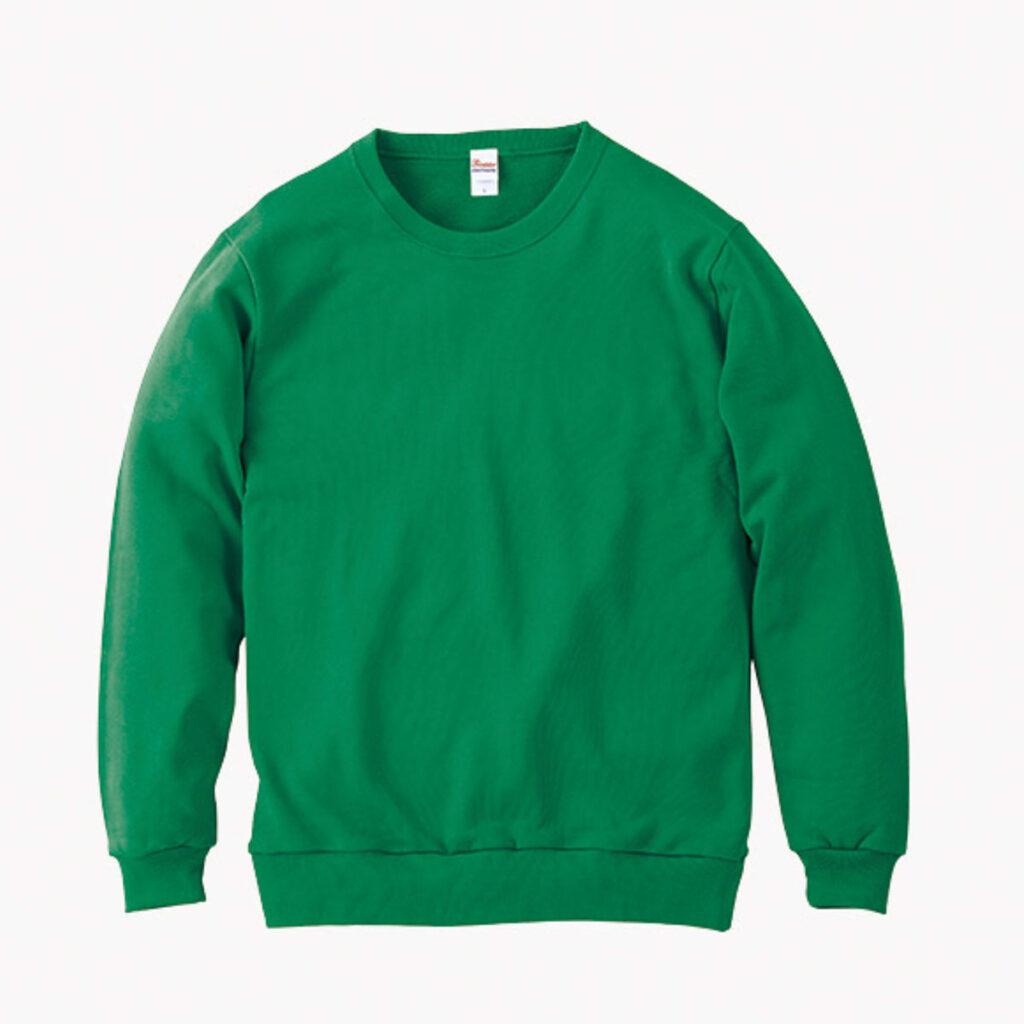 ライトスウェットシャツ 緑