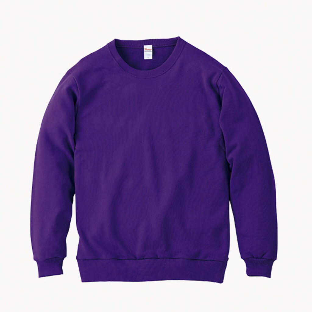 ライトスウェットシャツ 紫