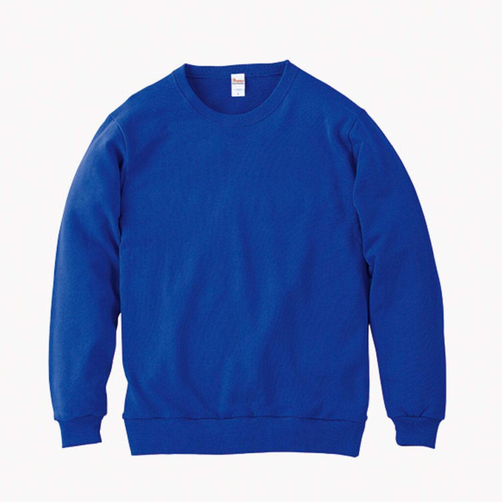 ライトスウェットシャツ 青