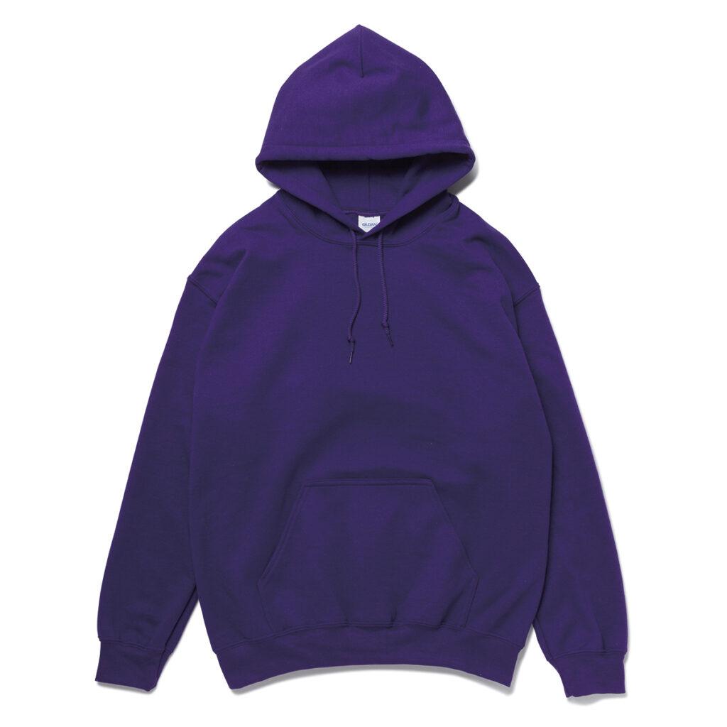 オーバーサイズ スウェットプルパーカー 紫