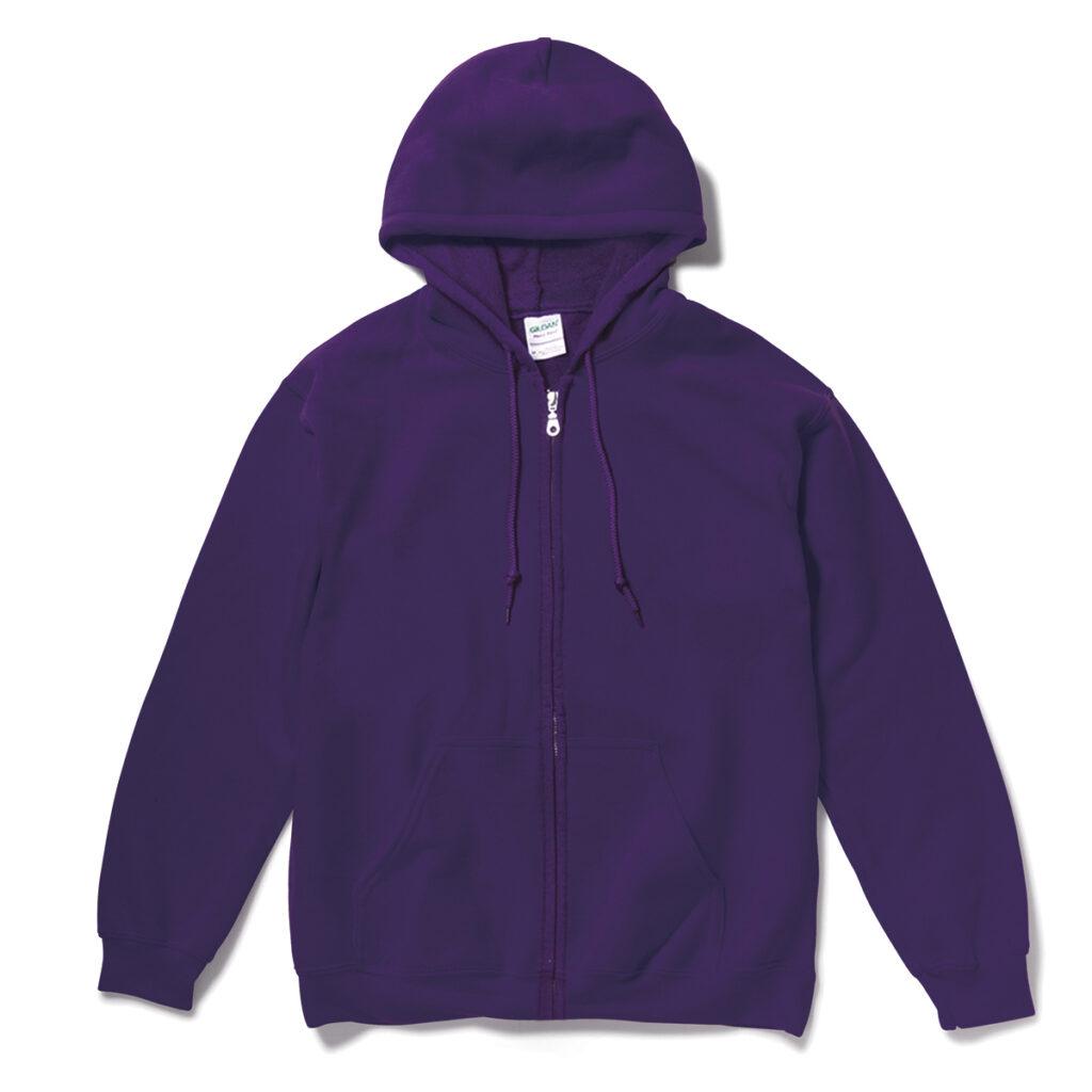 オーバーサイズ スウェットジップパーカー 紫