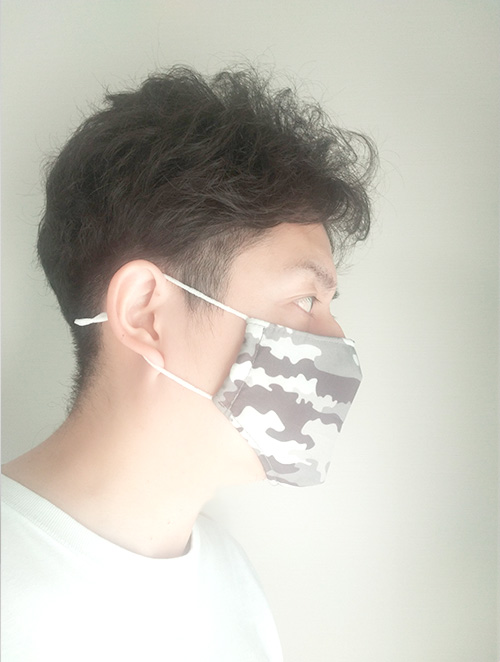 総柄プリントマスク