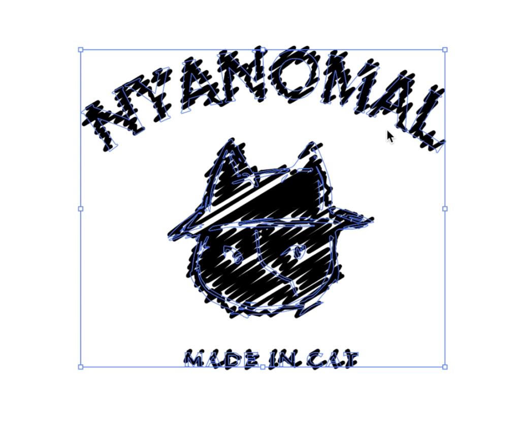 イラレ刺繍デザインの作り方4