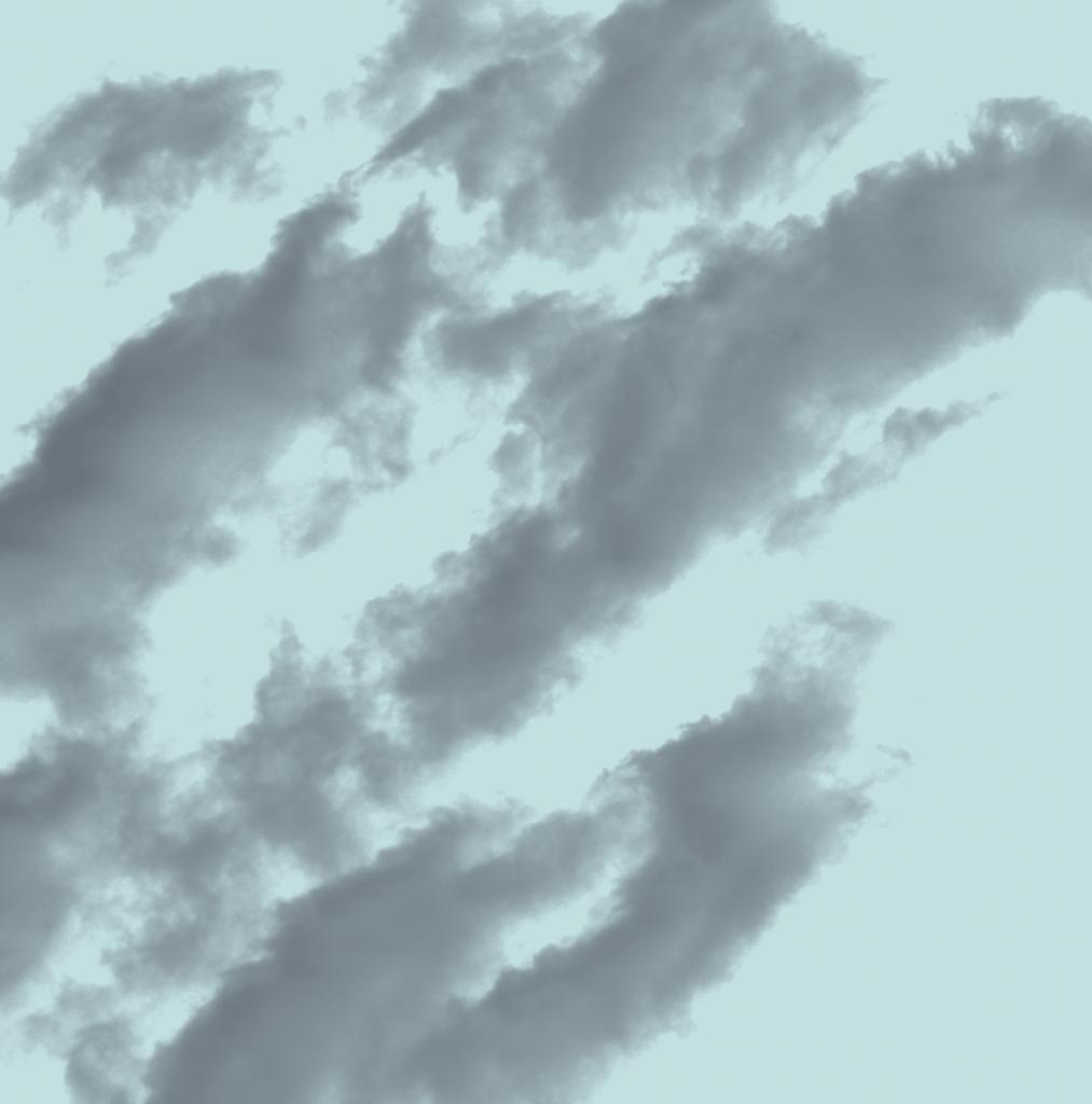 透明ブラシ雲