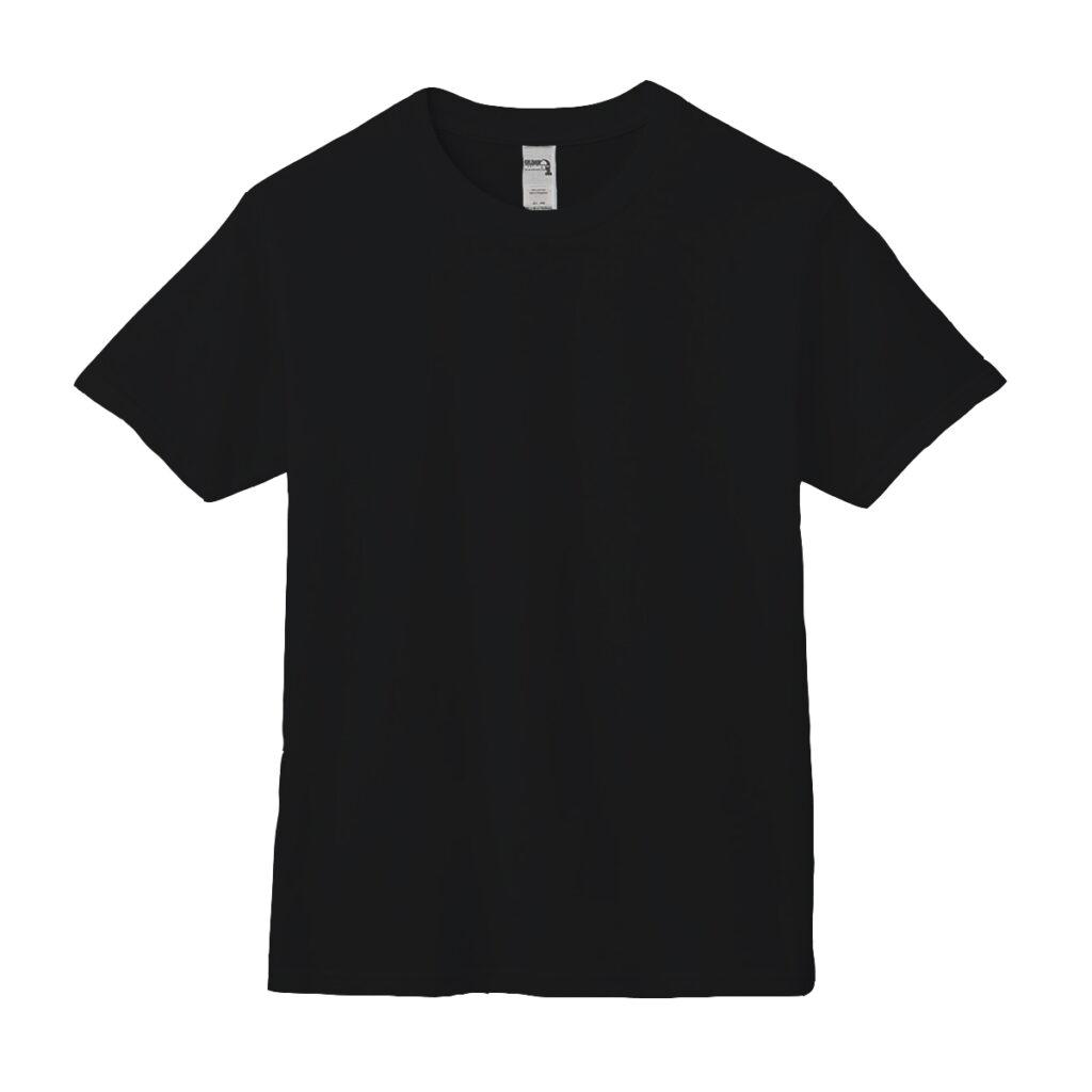 クルーネックTシャツ ブラック