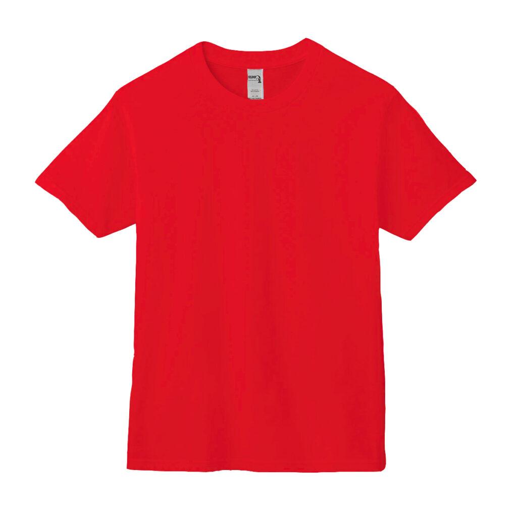 クルーネックTシャツ レッド