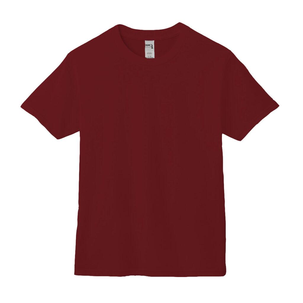 クルーネックTシャツ バーガンディ