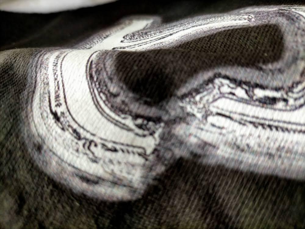 インクジェットプリント黒Tシャツ