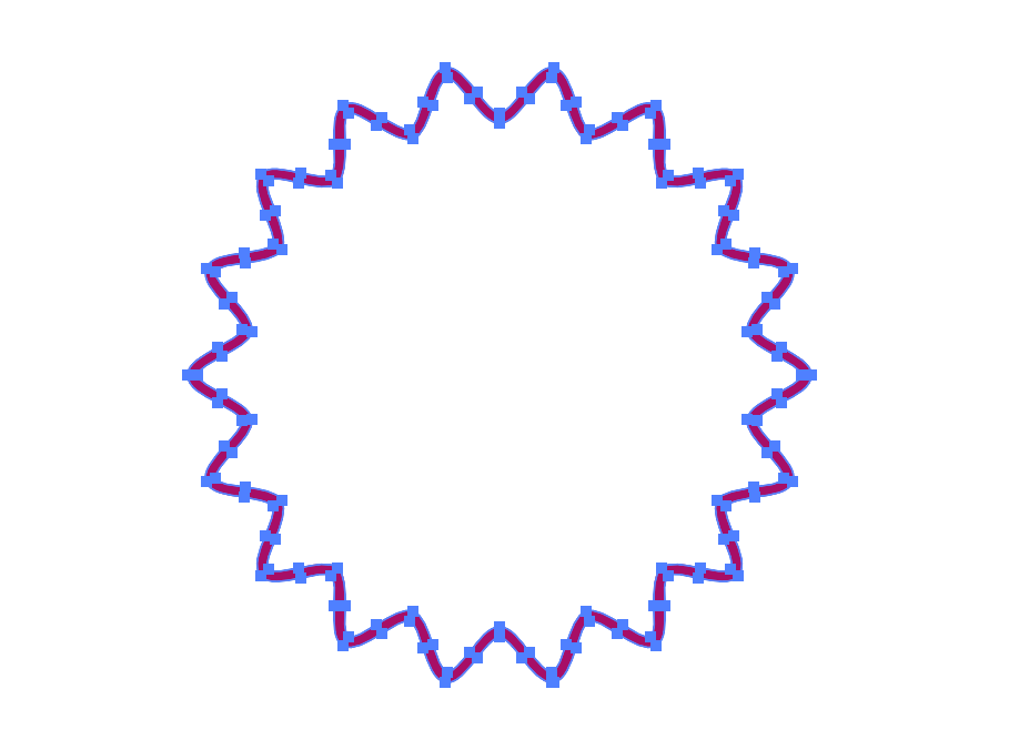 イラレなみなみ円形ロゴパスのアウトライン3