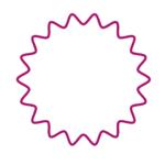 イラレなみなみ円形ロゴ作り方2